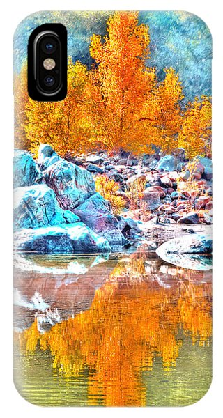 Yuba River Fall Reflection IPhone Case