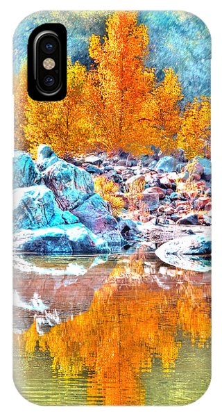 Yuba River Fall Reflection IPhone Case