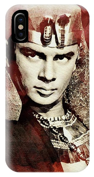 Pharaoh iPhone Case - Yul Brynner, Vintage Actor by John Springfield