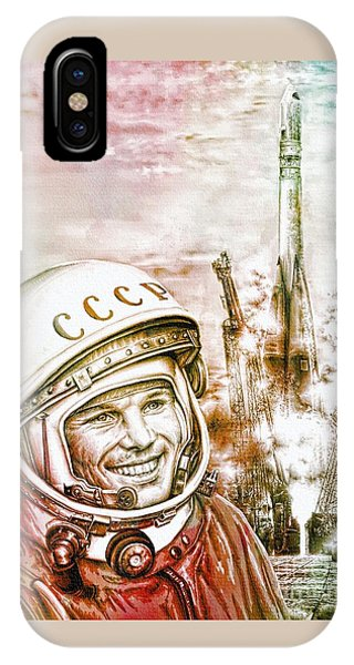 Yuri Gagarin - Cosmonaut 1961 Watercolor IPhone Case