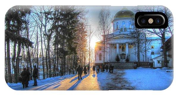 Yury Bashkin Russian Church In Winter IPhone Case
