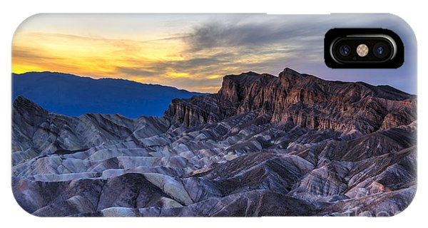 Death Valley iPhone Case - Zabriskie Point Sunset by Charles Dobbs