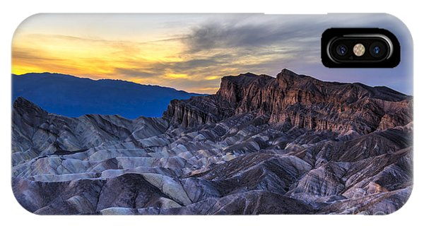 California iPhone Case - Zabriskie Point Sunset by Charles Dobbs