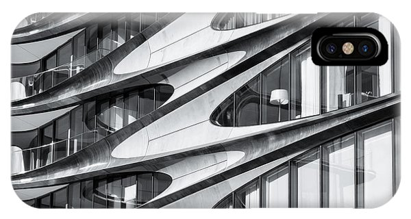 IPhone Case featuring the photograph zaha hadid Architecture in NYC by Michael Hope
