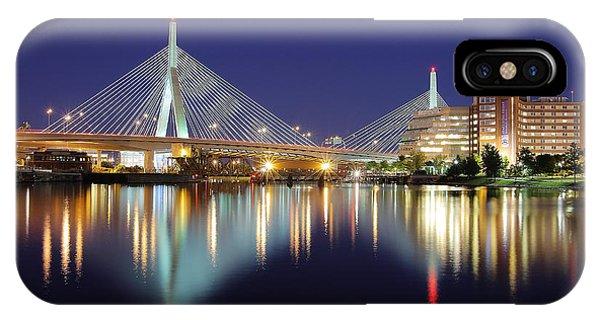 Zakim Bridge iPhone Case - Zakim Aglow by Rick Berk