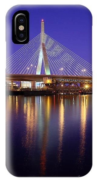 Zakim Bridge iPhone Case - Zakim At Twilight II by Rick Berk