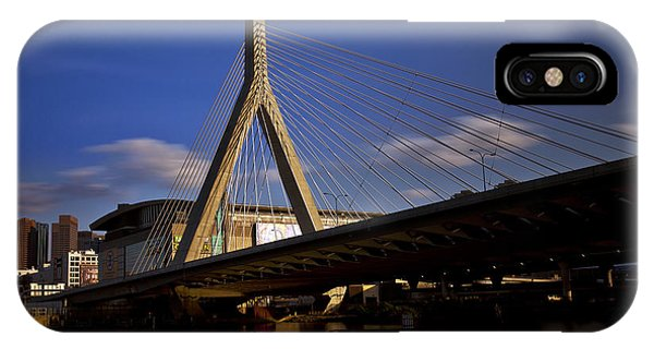 Zakim Bridge And Boston Garden At Sunset IPhone Case
