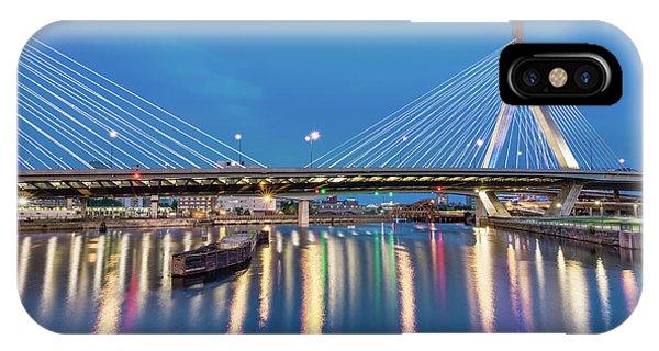 Zakim Bridge And Charles River At Dawn IPhone Case