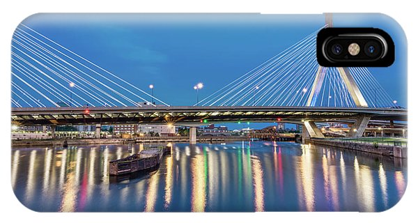 Zakim Bridge And Charles River At Dawn IPhone Case
