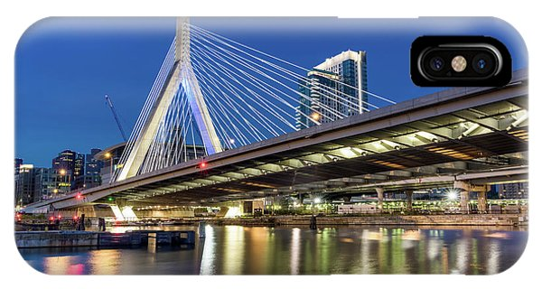 Zakim Bridge And Charles River IPhone Case