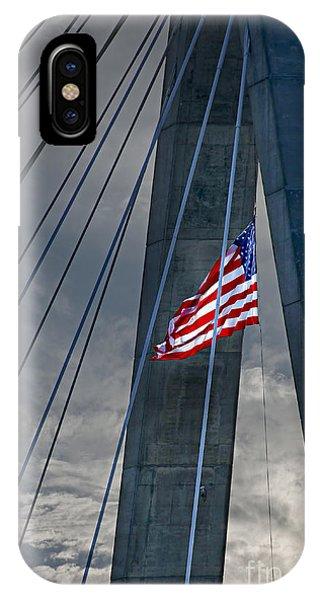 Zakim Bridge iPhone Case - Zakim Bridge Boston by Elena Elisseeva