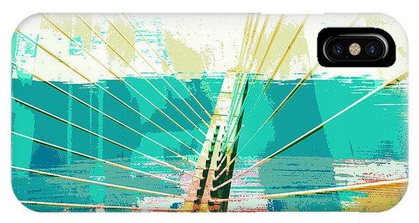 Zakim Bridge iPhone Case - Zakim Bridge Boston V1 by Brandi Fitzgerald