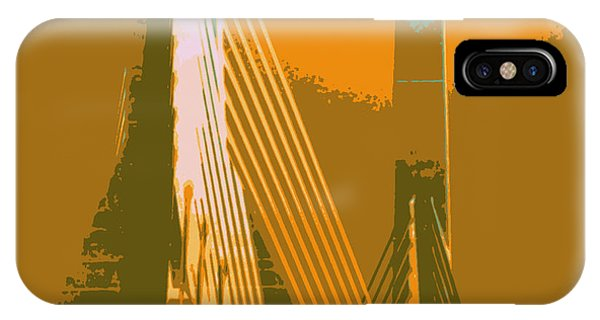 Zakim Bridge iPhone Case - Zakim Bridge Boston V6 by Brandi Fitzgerald