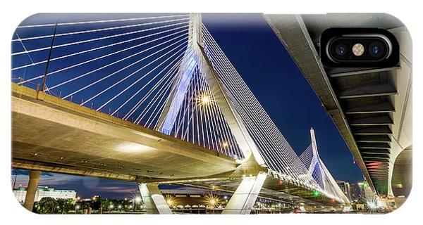 Zakim Bridge From Bridge Under Another Bridge IPhone Case
