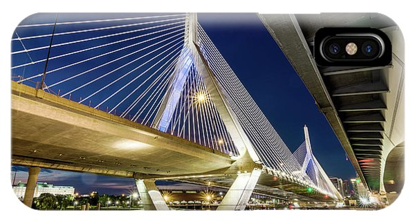 Zakim Bridge From Bridge Under Another Bridge IPhone Case