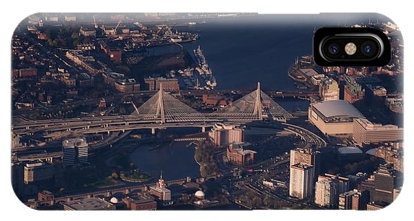 Zakim Bridge iPhone Case - Zakim Bridge In Context by Rona Black
