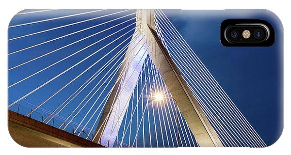 Zakim Bridge Upclose IPhone Case