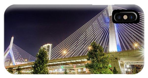 Zakim Bridge iPhone Case - Zakim Bridge by Val Black Russian Tourchin