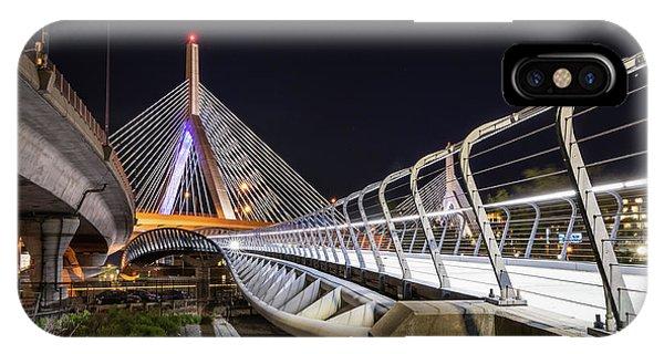 Zakim Bridge Walkway IPhone Case