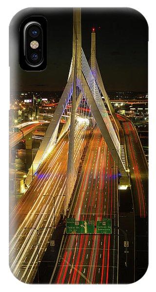 Zakim Bridge iPhone Case - Zakim Traffic by Walt Baker