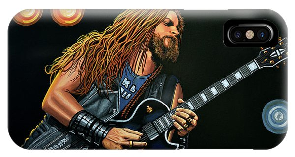 Dragon iPhone Case - Zakk Wylde by Paul Meijering