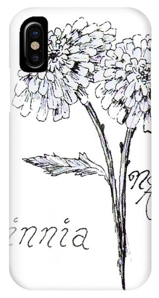 Zannie Zinnia IPhone Case