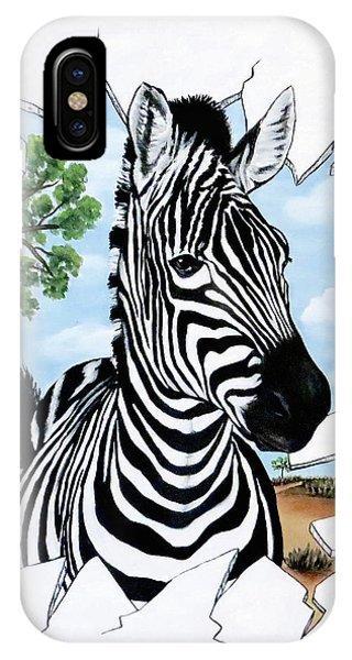 Zany Zebra IPhone Case