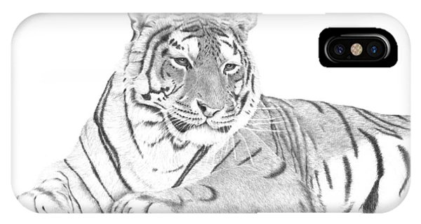 Zarina A Siberian Tiger IPhone Case