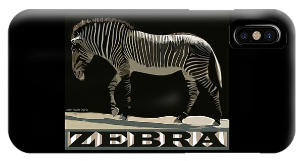Zebra Design By John Foster Dyess IPhone Case