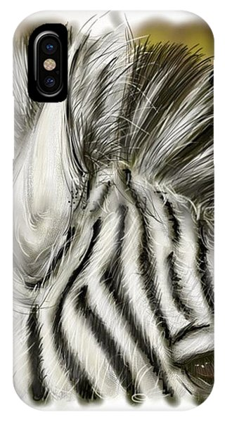 Zebra Digital IPhone Case