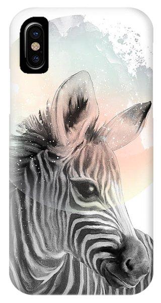 Zebra iPhone Case - Zebra // Dreaming by Amy Hamilton