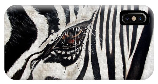Animal iPhone Case - Zebra Eye by Ilse Kleyn