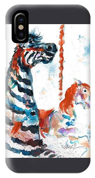 Zebra Gets A Ride The Ocean City Boardwalk Carousel IPhone Case