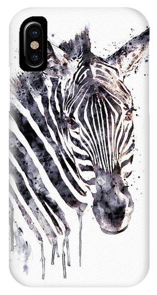 Zebra iPhone Case - Zebra Head by Marian Voicu
