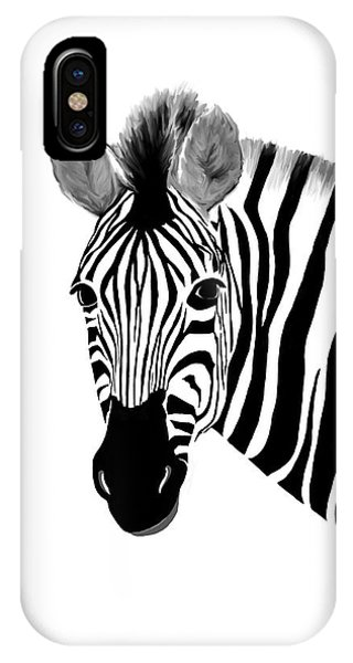 Zack A. Zebra IPhone Case