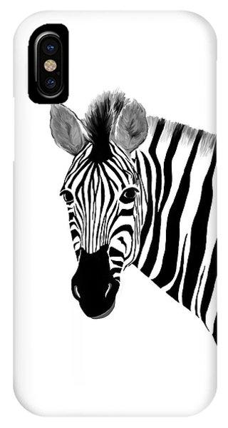 Zack A. Zebra IPhone Case