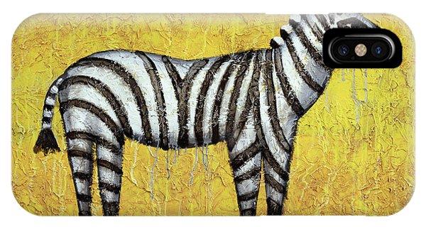 Zebra iPhone Case - Zebra by Kelly Jade King