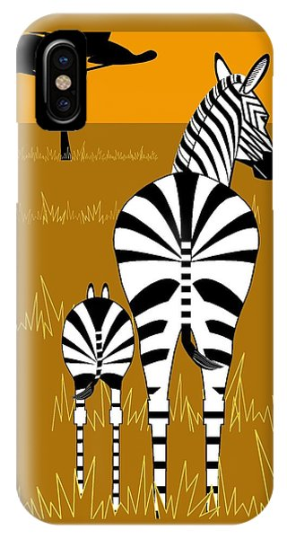 Zebra Mare With Baby IPhone Case