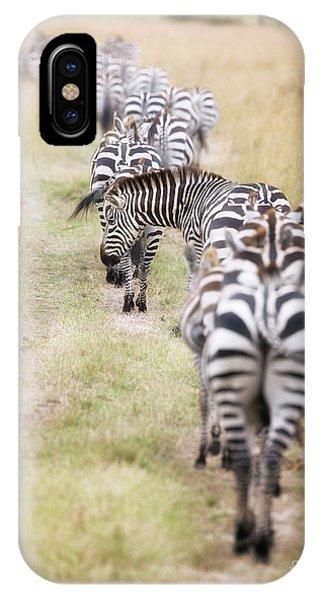 iPhone Case - Zebra Migration In  The Masai Mara by Jane Rix
