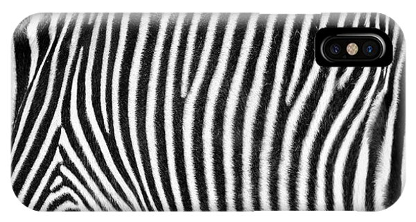 Zebra Print Black And White Horizontal Crop IPhone Case