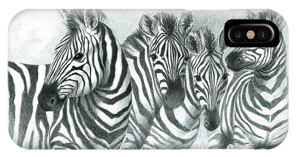 Zebra Quartet IPhone Case