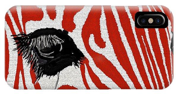 Zebra Red IPhone Case