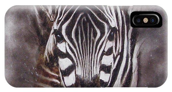 Zebra Splash IPhone Case