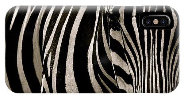 Zebra Up Close IPhone Case
