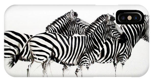 Zebras - Black And White IPhone Case