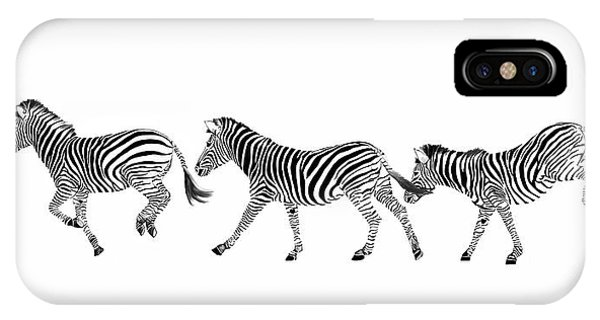 Zebras Dancing IPhone Case
