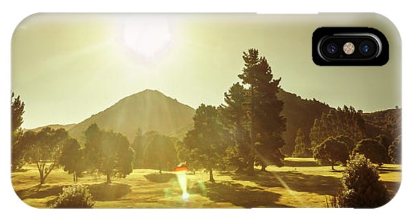 Panoramic iPhone Case - Zeehan Golf Course by Jorgo Photography - Wall Art Gallery