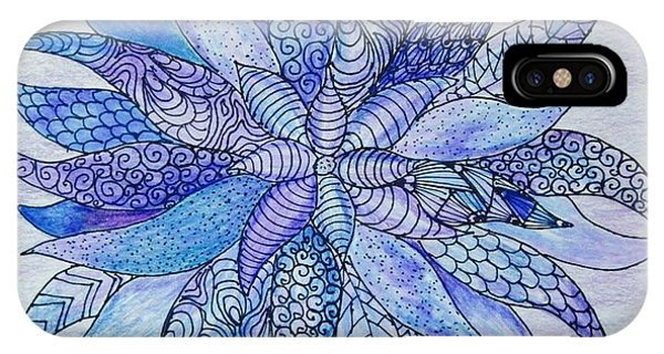 Lavender iPhone Case - Zen Flower Mandala by Megan Walsh