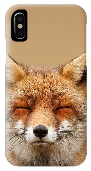 Zen Fox Series - Smiling Fox Portrait IPhone Case