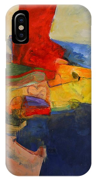 IPhone Case featuring the painting Zen Harbor by Cliff Spohn